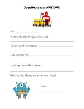 Open House Letter