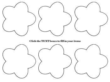 Open House / Meet The Teacher Bundle Flower Theme EDITABLE