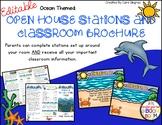 Open House / Meet The Teacher Stations and Brochure - Ocean Theme