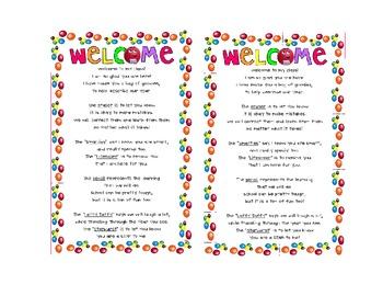 Open House/ Meet the Teacher Activity
