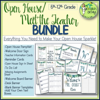 Open House, Meet the Teacher BUNDLE