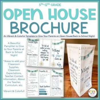 open house meet the teacher brochure pamphlet - Meet The Teacher Brochure Template