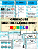 Open House/Meet the Teacher Bundle (Blue Chevron Style)