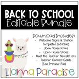 Open House/Meet the Teacher Bundle (Llama)