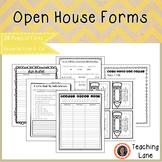Meet the Teacher Open House Forms