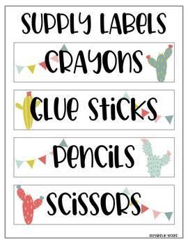 Llama Cactus Open House - Meet the Teacher Forms - Editable!
