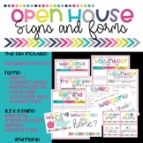 Open House Meet the Teacher Forms and Signs