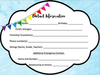 Open House/ Meet the Teacher Kit (Editable!)
