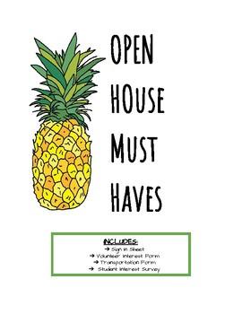 Open House- Meet the Teacher Night