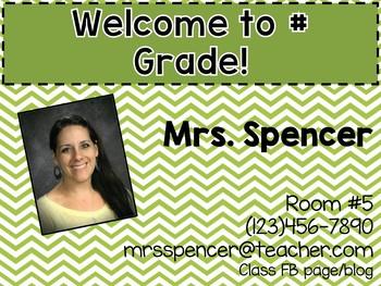 Open House/Meet the Teacher Pack