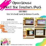 Open House Meet the Teacher Pack | Distance Learning and I