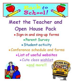 Open House / Meet the Teacher Pack {EDITABLE}
