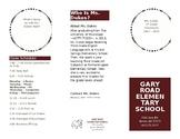 Open House/Meet the Teacher Pamphlet
