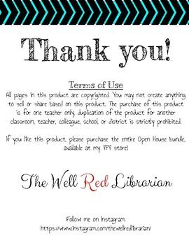 Open House/Meet the Teacher Sign In