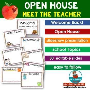 Open House - Meet the Teacher - Slideshow Presentation [Editable]