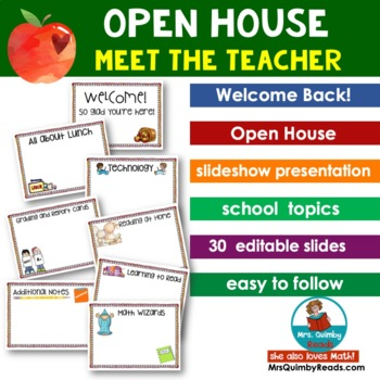Meet the Teacher | Slideshow Presentation [Editable] |Open House
