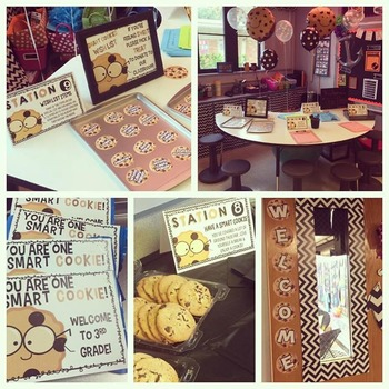 Open House / Meet the Teacher Stations & Decor: Smart Cookie Themed