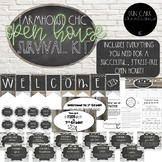 Open House-Meet the Teacher Survival Kit (EDITABLE) - Farmhouse Chic