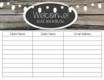 Open House-Meet the Teacher Survival Kit (EDITABLE) - Farmhouse Chic
