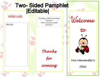 Open House | Meet the teacher | Ladybug Theme | Editable
