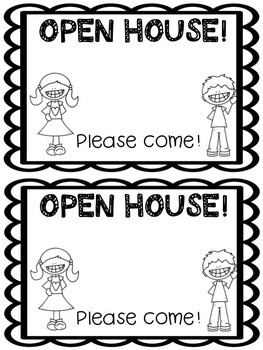 Open House Note *EDITABLE*