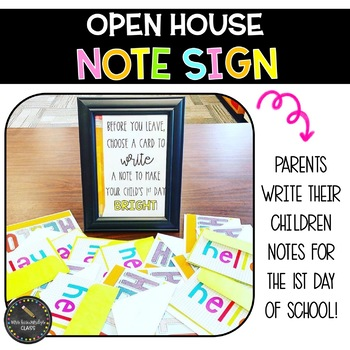 Open House Note Sign