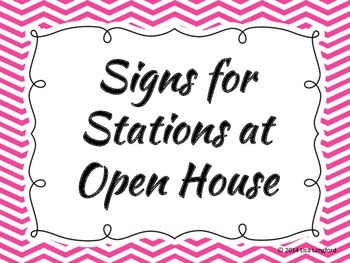 Open House Numbered Signs