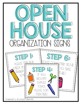 Open House Organization Signs