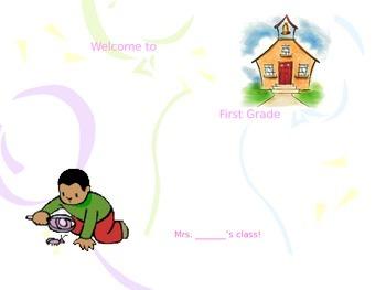 Open House Orientation Animated PowerPoint Editable