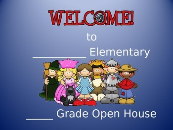 Open House Orientation Wizard of Oz PowerPoint EDITABLE