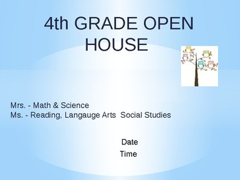 Open House PPT EDITABLE