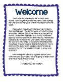 Open House Packet - Back to School Night
