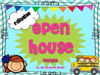 Open House Packet - Editable {Blue}
