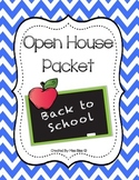 Open House Packet - Meet the Teacher - Colorful Chevron