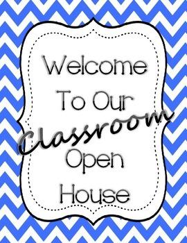 Open House Packet - Meet the Teacher - Colorful Chevron