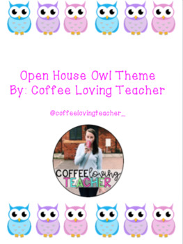 Open House Packet  Owl Theme