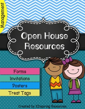 Open House Packet {Trendy Pastels - Chevron and Dots} Editable