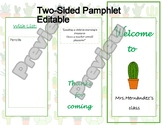 Open House | Pamphlet Template |Cactus theme | Editable