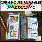 Open House Pamphlet Template - Watercolor