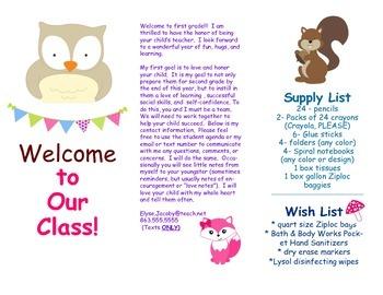 Open House Parent Brochure EDITABLE Forest Woodland