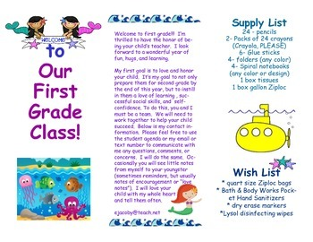 Open House Parent Brochure EDITABLE Ocean