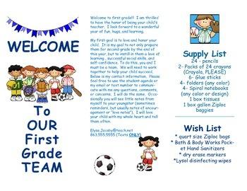 Open House Parent Brochure EDITABLE Sports