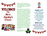 Open House Parent Brochure EDITABLE Wizard of Oz