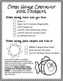 Open House Parent Checklist & Student Scavenger Hunt
