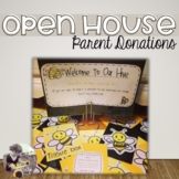 Open House Parent Donations Bee Theme
