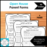 Back to School Open House Parent Forms