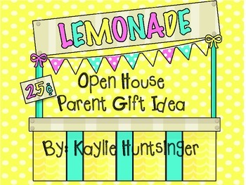 Open House Parent Gift