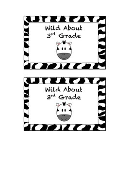 """Wild About"" - Labels for Open House Freebie"