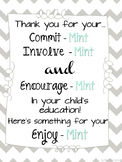 Open House Parent Involve-Mint Poster