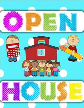 Open House/Parent Night Powerpoint (Polkadot)